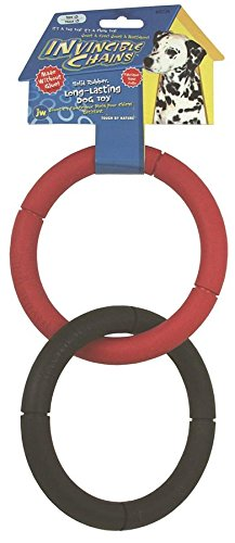 JW Pet Company Invincible Chains LD Double Dog Toy, Large (Colors Vary)