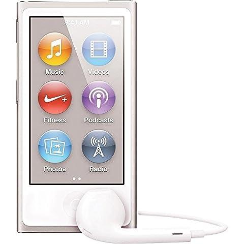 neuesten Modell Apple iPod nano 7. Generation 16GB Silber mit Generic weiß EarPods und ein USB-Datenkabel (nicht Retail verpackt in einer braunen Box), Modell: md480ll/Cali, Elektronik & Zubehör Store
