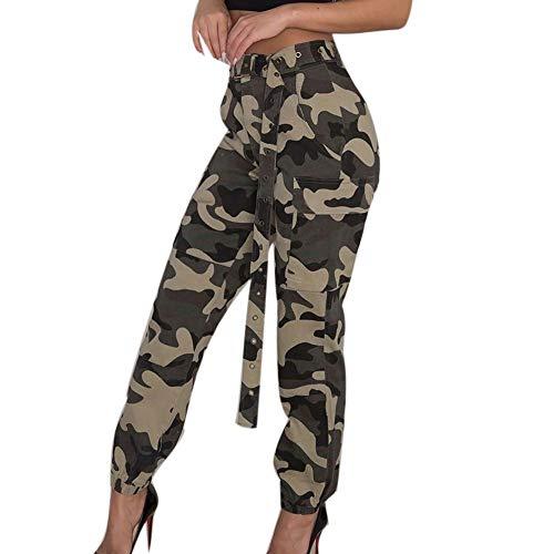 SUCES Haremshosen Damen Persönlichkeit Tarnhose Frauen Sport Sommerhose Women Camouflage Hose Casual Jogger Hose Mode Hip Hop Hose (Aladdin Hosen Kostüm)