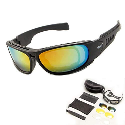 YHFS Sport Sonnenbrillen Brille Militär Brille Armee Sonnenbrille Mit 4 Linsen Männer Shooting Eyewear Motorrad