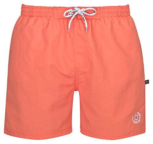 bugatti® - moderne Herren Badeshorts in mintgrün, marineblau, orange, rot, türkis oder schwarz Orange