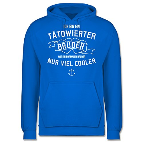 Bruder & Onkel - Ich bin ein tätowierter Bruder - Herren Hoodie Himmelblau