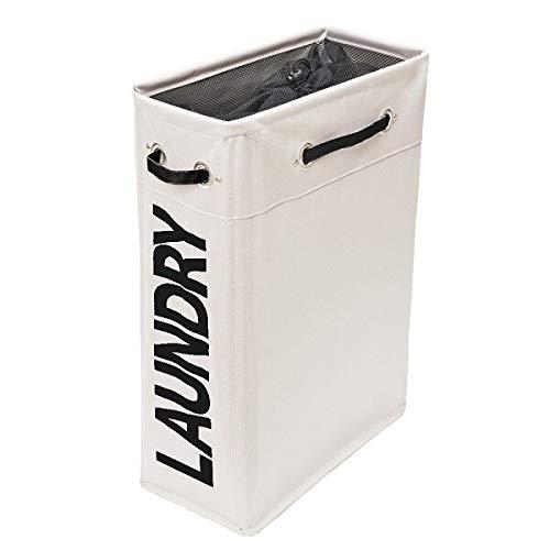 STARKWALL Modische Slim Wasserproof Wäschetasche White Foldable Dirty Cloth Wäsche Home Use Collapsible Corner Wäschekorb 40X20X56CM beige 5 X 6 Collapsible