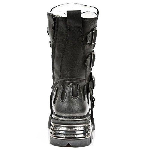 New Rock Boots Unisexe Botte - Style 107 S2 Argent Argent