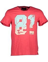 Guess Tee-shirt Cut Back Rouge