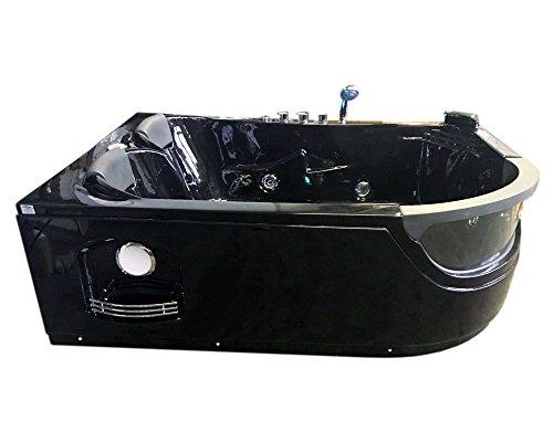 Vasche Da Bagno Angolari 120 120 : Vasca bagno idromassaggio angolare nera modello pegaso