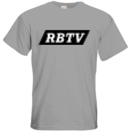 getshirts - Rocket Beans TV Official Merchandising - T-Shirt - Pixel RBTV pacific grey