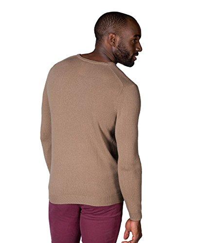 WoolOvers Neuer Pullover mit Rundhalsausschnitt aus Kaschmir für Herren Camel