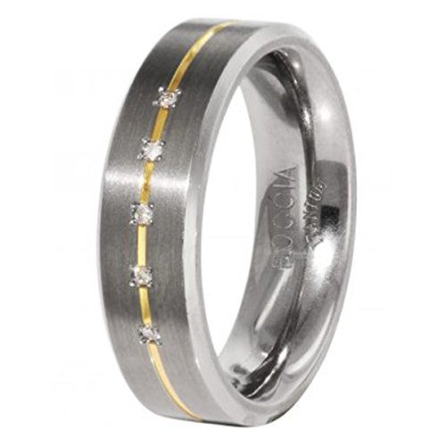 Boccia Damen-Ring Titan 5 Brillianten 0,025 Gr.58 0101-1958