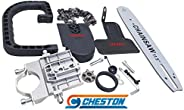 Cheston Electric Chainsaw Bracket Adapter Set for Angle Grinder Machine Woodworking Tool