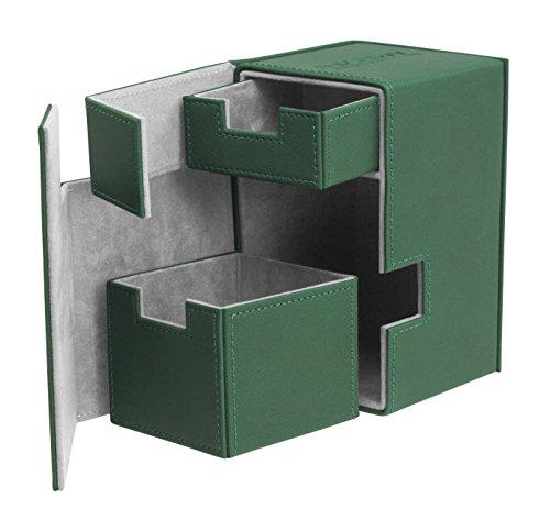 Ultimate Guard FlipŽnŽTray Deck Case 100+ Caja de Cartas Tamaño Estándar XenoSkin Verde