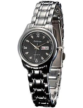 Ouneed® Uhren, Liebhaber Kalender Uhr Stahlbügel wasserdichte Quarz analoge Armbanduhr