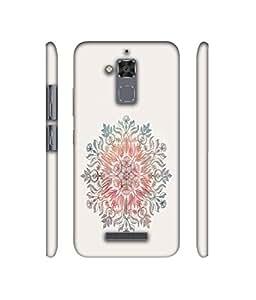 NattyCase Leaf Art Design 3D Printed Hard Back Case Cover for Asus Zenfone 3 Max ZC520TL