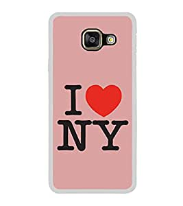 I Love New York 2D Hard Polycarbonate Designer Back Case Cover for Samsung Galaxy A3 (2016) :: Samsung Galaxy A3 2016 Duos :: Samsung Galaxy A3 2016 A310F A310M A310Y :: Samsung Galaxy A3 A310 2016 Edition