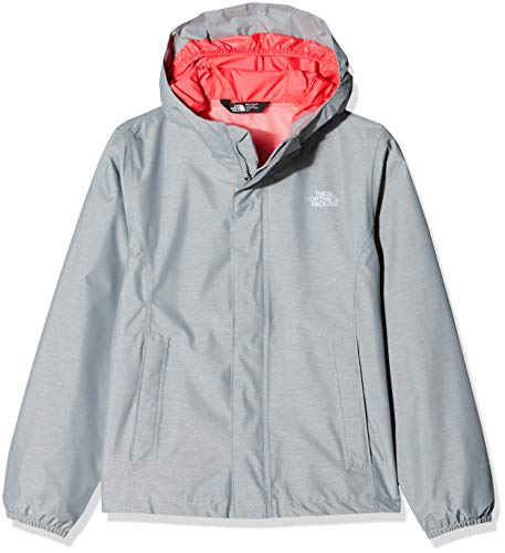 THE NORTH FACE Mädchen Resolve Reflective Jacke, Mid Grey Heather, L (The North Face Mädchen Jacken)
