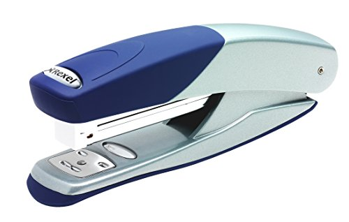rexel-torador-full-strip-stapler-73mm-throat-depth-silver-blue-25-sheet-capacity