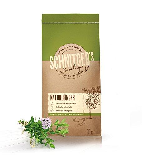 Naturdünger – Universal Pflanzendünger in Bio-Qualität – Langzeitdünger für gesunde Pflanzen und Blumen – Dünger von SCHNITGER's – 10kg