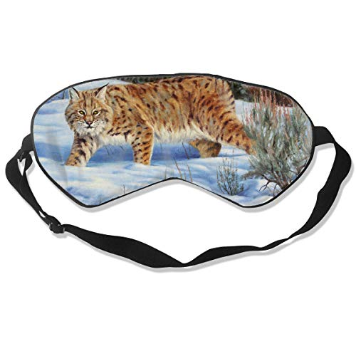 Custom Sleep Mask Ferocious Bobcat Funny Pattern Comfortable Sleep Eyes Covers Bobcat Skins