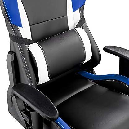 41DHW46yzML. SS416  - TecTake Silla de Oficina ergonomica Racing Gaming con Soporte Lumbar