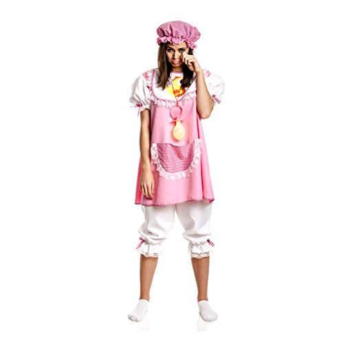 Kostümplanet® Baby Kostüm für Damen + Mütze rosa witziges Faschingskostüm Größe 36/38 (Damen Baby Kostüm)