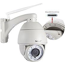 Sricam Exterior Cámara de vigilancia WiFi/Ethernet Cámara IP Dom 720P Alarma de Movimiento Visión