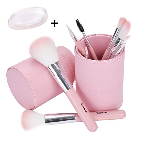 Makeup Pinsel Set, Kapmore 10PCS Pink Makeup Pinsel Kit Professional Cosmetics Foundation Pinsel mit Geschenk (Make Up Frauen Halloween)