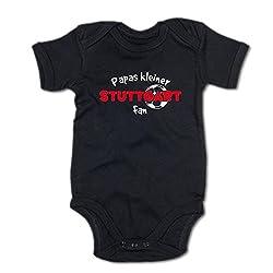G-graphics Papas Kleiner Stuttgart Fan Baby-Body (250.0248) (0-3 Monate, schwarz)
