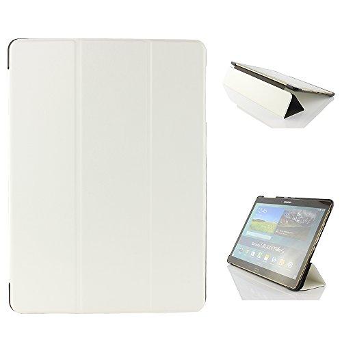 Urcover® Schutzhülle kompatibel mit Samsung Galaxy Tab S 10.5 Smart Cover Case in Weiß [ mit Standfunktion & Sleep Wake ] Schutzhülle Etui Schale