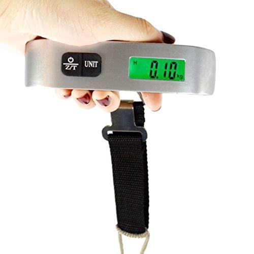 XQxiqi689sy Tragbare Digitalwaage für Reisegepäck, LCD-Waage, Haken zum Aufhängen, 50 kg (Schwarz Gepäck-sets Auf Verkauf)