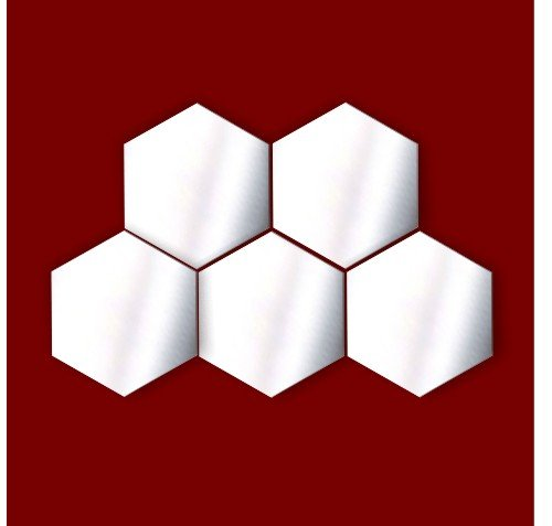 Da-de-boxeo-VENTA-decorativo-adornosNursery-Ventana-Habitacin-Decoration-Lote-de-5-espejos-de-acrlico-hexagonal-5-cm-cada
