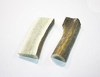 Jouet à mordre au bois de cerf naturel, dédoublé, pour chien (taille M)