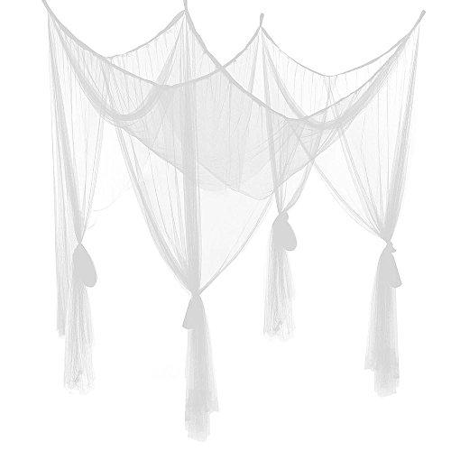 Yahee Moskitonetz Bettvorhänge Mückennetz Baldachin Betthimmel Insektenschutz 200 x 180 x 180 cm (weiß)