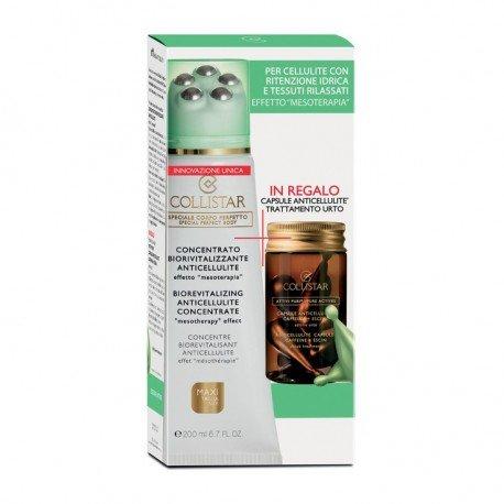 Collistar Gift Set Corpo: Concentrato Biorivitalizzante Anticellulite - 200 ml. + Attivi Puri Capsule Anticellulite 7 capsule