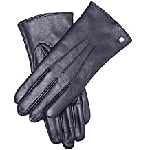 Roeckl New Classic purple Leder Handschuhe gefüttert Lederhandschuhe Damen Winte