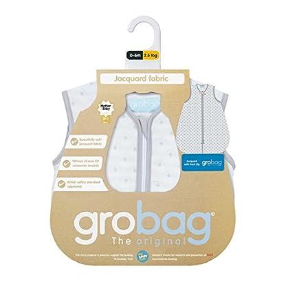 Grobag para bebé de The Gro Company, tela de jacquard, con estampado de circulos grises