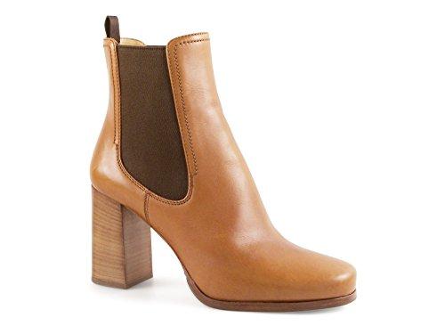 Bottines à talon Car Shoe en Cuir veau couleur Cuir - Code modèle: KDT87J ASK F0054 Cuir