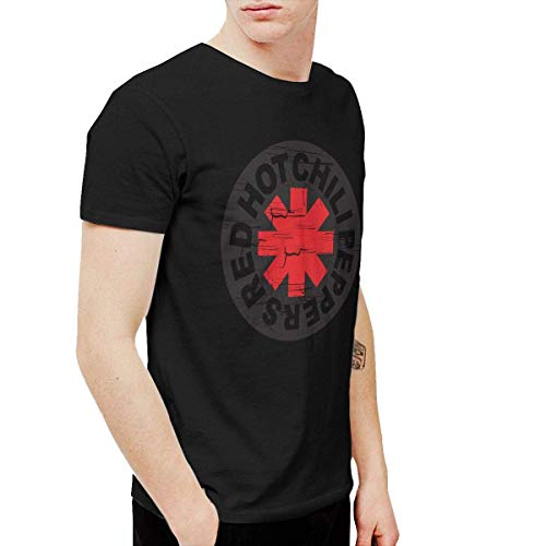 DeATfr Mens Cool Red Hot Chili Peppers T-Shirts and Washed Denim Hat Casquette Black,Black,3X-Large (Red Hot Chili Peppers Baby)
