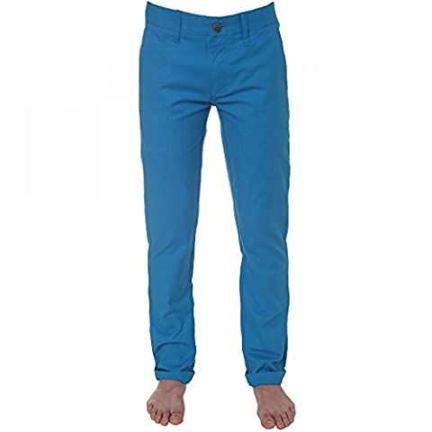 Volcom Kids Frickin Tight Chino Pants in Electric Blue - Youth Boys Trousers 28 (14 years)