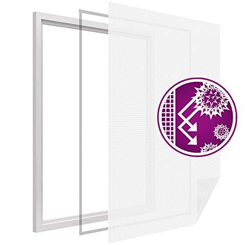 proheim Pollenschutz-Vlies smartLINE 130 x 150 cm in Weiß mit Klettband Pollenschutzvlies Pollenschutzgitter für Fenster Pollenfilter Sparset wählb...