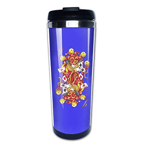 304 Stainless Steel Liner Coffee Cup Tumbler Mug Poker Clown Gold Fashion Travel Mug 400 Ml Water Bottles Portable Thermos Vacuum Flask -