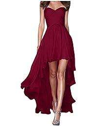 Gorgeous Bride Fashion Traegerlos Hi-Lo Chiffon Lang Abendkleider Festkleider Ballkleider