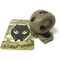 """atairsoft Tactical Airsoft de liberación rápida única 1""""linterna Clamp Holder Mount ajuste rápido casco Side Rail, DE"""