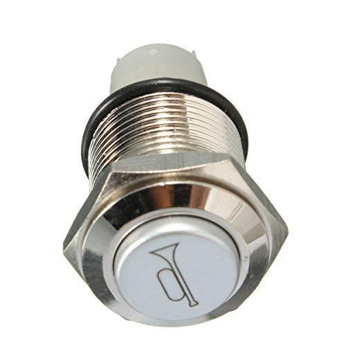 ninth-city 16mm Momentary Metall blau LED-beleuchteten Power Push Button Wasserdicht Lautsprecher Horn Schalter 12V -