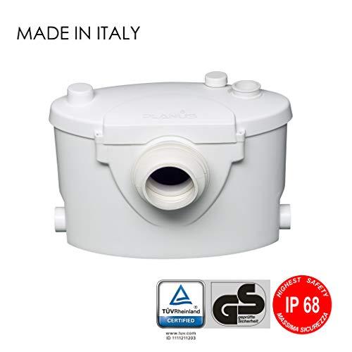 oysan 4 Hebeanlage wc zertifizierter IP68, Schmutzwasserpumpe - Made in Italy, 230 V, Weiß ()