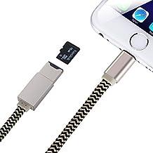 GHB 3 in 1 Cavo Lightning Adattatore Lightning a Scheda SD Cavo di ricarica per Espansione della Memoria di iPhone iPad iPod