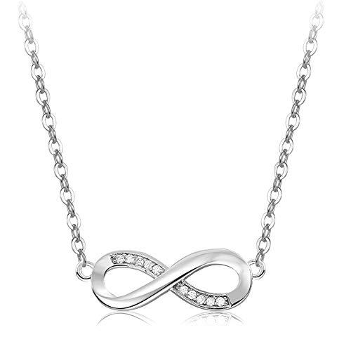 Horizonc Mode Kristall Halskette Zirkon Glück 8 Wort Halskette Frauen Anhänger Halskette Mit Diamanten