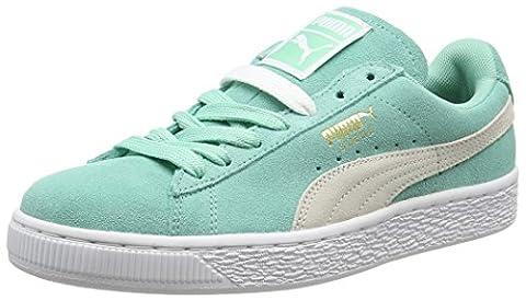 Puma Suede Classis S6 - Sneakers Basses - Femme - Vert (Green/White) - 37 EU (4 UK)