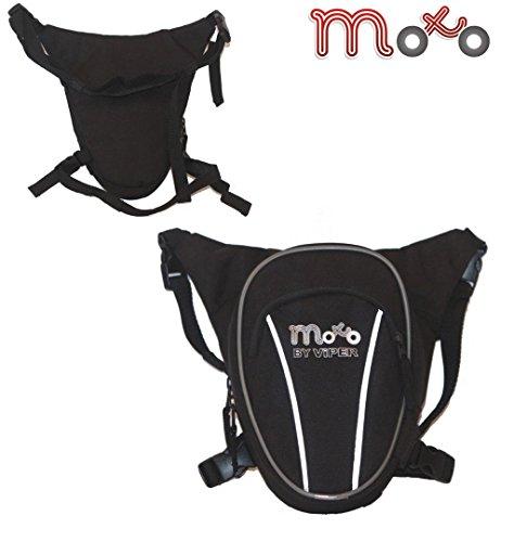 Moto Luggage Hüfttasche Beintasche Multifunktional Motorradfahren Radsport Hausmeisterarbeit Reiten Touren Camping Draussen (8 Liter) - Schwarz - One -