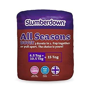 Slumberdown All Seasons 3-in-1 15 Tog Combi Duvet, White, Double