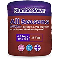 Slumberdown All Seasons 3-in-1 15 Tog Combi Duvet, White, Double Bed